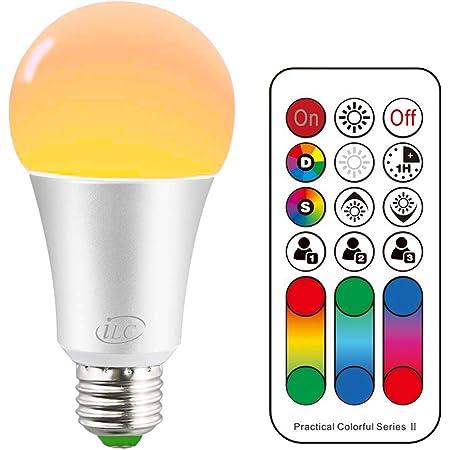 DEL RGB e27 7 W changement de couleur ampoules Télécommande Variateur ip20 Living-XXL