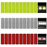 KOOU 30pcs Reflective Sticker Safety Warning Tapes Diamond Grade Waterproofs High Intensity Night Visibility Adhesive...