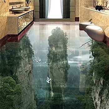 Wapel Tapete Tragen Dicker Pvc Wand Aufkleber Welt Fairyland Peak Cliff Wohnzimmer Badezimmer 3d Bodenfliesen Malerei 430 Cmx 300cm Amazon De Baumarkt