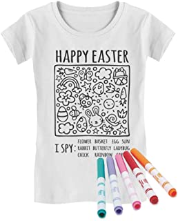 Happy Easter Coloring Kit with Fabric Markers I Spy Infant Girls' Fitted T-Shirt