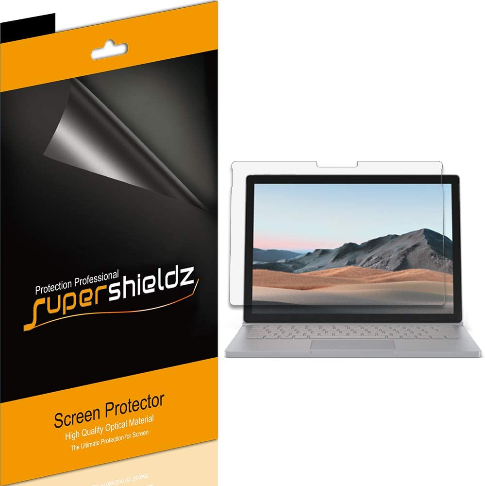 (3 Pack) Supershieldz Designed for Microsoft Surface Book 3 and Surface Book 2 (15 inch) Screen Protector Anti Glare and Anti Fingerprint (Matte) Shield