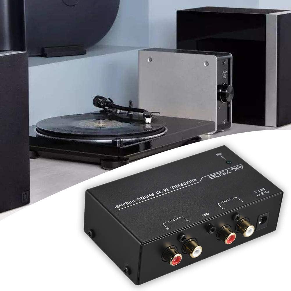 preamplificatore fonografo mini audio elettronico stereo con controlli di livello Preamplificatore preamplificatore giradischi fono funzionamento a basso rumore