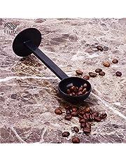 مجنفات القهوة - أدوات القهوة والشاي البلاستيكية 2 في 1 10 جرام قياس الضجيج مغرفة القهوة العبث الأسود إسبرسو حامل قهوة ملعقة أدوات المطبخ