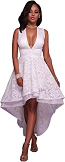 Best white high low dress Reviews