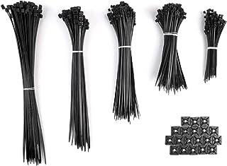 Negro Paquete de 100 ataduras de cable negras Ataduras de cable de nylon de alta calidad 150mm x 3,6mm Ataduras de cable Premium
