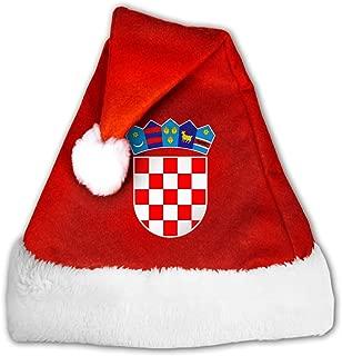 Croatian Flag Christmas Santa Hat for Adult & Children