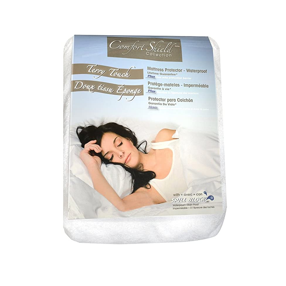 Comfort Shield Anti Allergen Bed Bug Proof Soft Terry Waterproof Mattress Protector, White, Queen