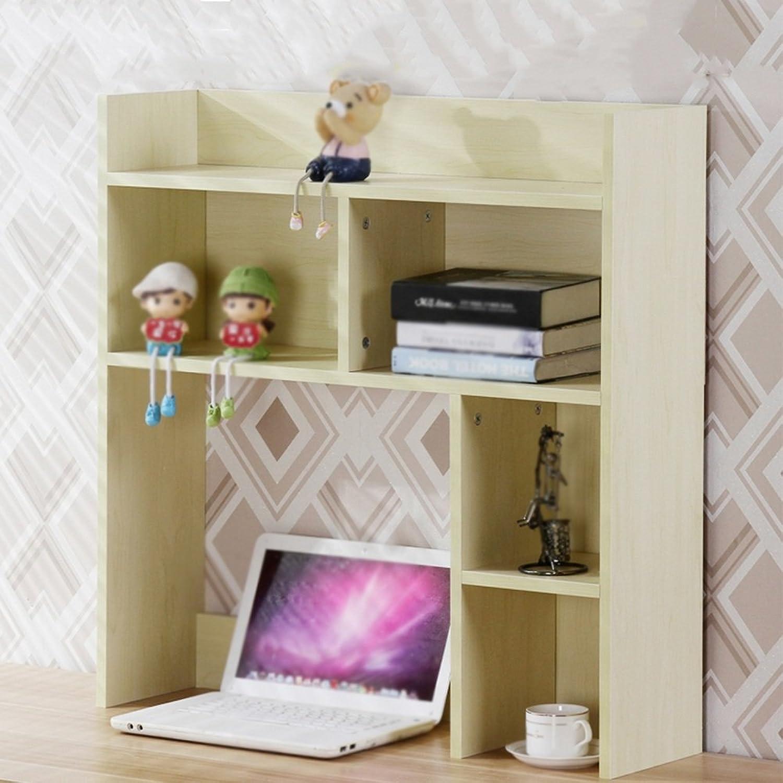 Chunlan Bookshelf On The Table Bookshelf Office Dormitory Desktop Shelves Storage Rack (color   White Maple 80  20  80cm)