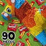 SKITTLES & STARBURST Christmas Candy Fun Size Variety Mix, 39.1-Ounce Bag 90 Pieces