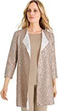 Chico's Women's Travelers Collection Reversible Solid to Floral Crushed Jacket