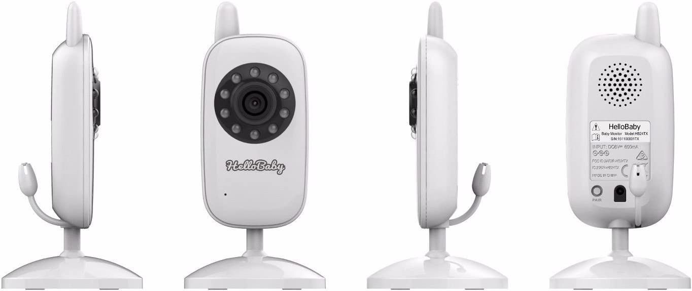 2.4 GHz Digital Video Baby Monitor with Night Vision Baby Room Temperature Display Two-Way Talking