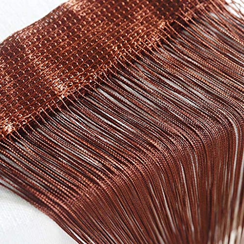 jieGorge String Curtains Patio Net Fringe for Door Fly Screen Windows Divider Cut To Size, Home Textiles, for Christmas Day (G)