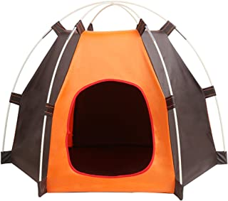 Portable Folding Dog Tent Cat House Bed, Outdoor Waterproof Animals Shelter Wigwam, Summer Beach Sunscreen Rabbit,Travel C...