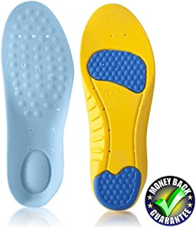 Dr.Koyama Arch Support Insoles for Flat Feet, Low Arch Pain Relief, Plantar Fasciitis, Shock Absorption Running Shoe Inser...