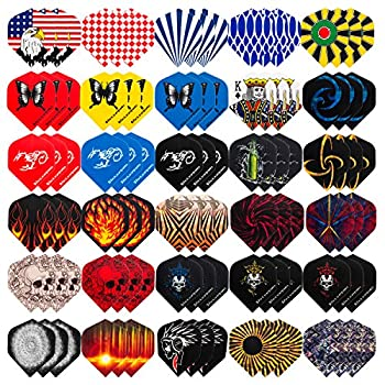 UZOPI Standard Dart Flights 30 Sets 90Pcs Durable Replacement Feather Tail for Soft Steel Tip Darts Perfect Dart Accessories Supplies for Dart Games