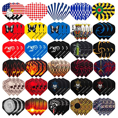 UZOPI Standard Dart Flights 30 Sets 90Pcs Durable Replacement Feather Tail for Soft Steel Tip Darts, Perfect Dart Accessories Supplies for Dart Games