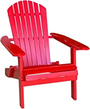 Leigh Country TX 39012 Red Folding Adirondack Chair