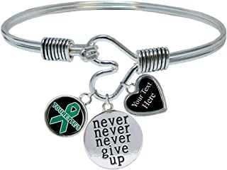 Tourette's Awareness Never Give Up Bracelet Jewelry Choose Your Text