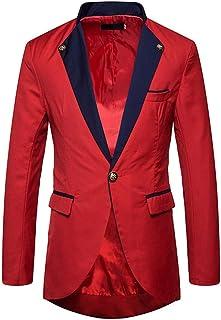 Slim Fit Mens Blazers Jacket Casual Slim Fit Blazer one Button Suit Sport Coat Lightweight Jacket Goosun White,Red,Black S...