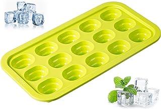 Levivo silikon isbitsform för 15 isbitar, med innovativt popup-system, grön