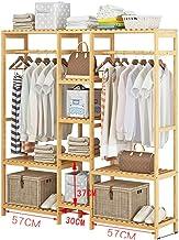 Râteliers multi-usages Portemanteau Chambre Pendaison Rack penderie Moderne Sac de Rangement Rack Bambou étage Rack Casier...