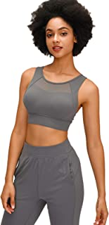 Adjustable Sports Bra Women, Breathable Comfy Back Cross Yoga Gym Bras,Gray,12