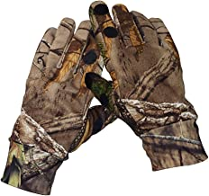 Eamber Camouflage Hunting Gloves Full Finger/Fingerless Gloves Pro Anti-Slip Camo Realtree Glove Archery Accessories Hunting Outdoors (M)