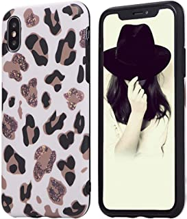 Animal Leopard Print Phone Case Cool For iPhone X iPhone Xs Ultra Thin Giraffe Pattern Cute Back Cover Skin Cheetah Cat Gel Silicone TPU Protective Cover For iPhone X Case iPhone Xs Case White