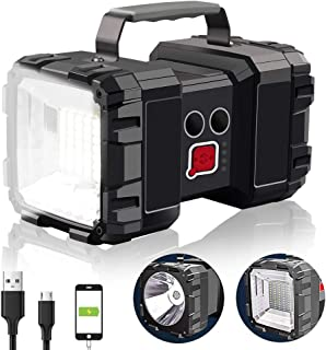 AlpsWolf Rechargeable Flashlight, LED Spotlight Flashlight 15000mAh 4000LM 20h Ultra-long Standby Ultra Bright Flashlight ...