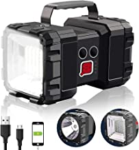 Rechargeable Flashlight, Alpswolf LED Spotlight Flashlight 10000mAh 1200LM 20h Ultra-long Standby 3+4 Lights Modes Super B...
