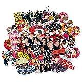 BLOUR 62Pcs / Pack Kpop NCT127 NCT Cartoons Ausdruck Kleber Fotoaufkleber für Gepäck Laptop Notebook Mobile DIY Aufkleber