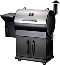 Z GRILLS Wood Pellet Grill Smoker 700 Cooking Area 6 in 1- Electric Digital Controls Grill with Patio Cover for Outdoor BBQ Smoke, Roast, Bake, Braise and BBQ with Storage Cabinet