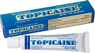 TOPICAINE 4%- Lidocaine Gel (30 grams) Anesthetic Numbing Gel