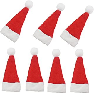 Mini Santa Hats, 20 Pcs Mini DIY Red Christmas Santa Hats for Crafts