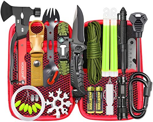 Gifts for Men Dad Survival Gear and Equipment 32 in 1 Cool Gadgets First Aid Supplies Kit for product image
