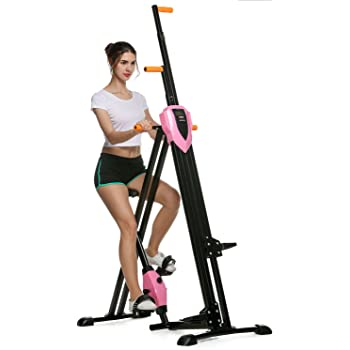 ANCHEER Unisex Vertical Climbing Fitness Cardio Exercise Bike Home Trainer Machine Stepper Cross Core System