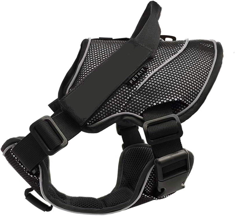 GFGS1201 Leash chain Dog Leash, Vest Chest Strap Dog Leash For Large Dogs In golden Hair (color   Black, Size   L)