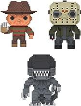 New Funko Pop Movies Horror 8-Bit Vinyl Figures Set of 3- Jason, Freddy Krueger, Xenomorph Alien