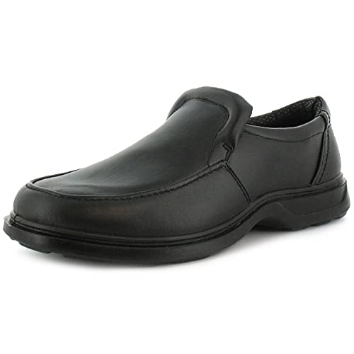 9f294aa192b5 Mens Gents Black Slip On Wider Fitting Casual Shoes - Black - UK SIZES 6-