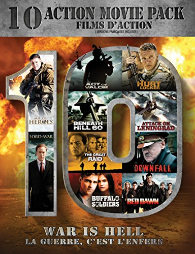 The Hurt Locker / Lord Of War / Attack On Leningrad / Buffalo Soldiers / The Great Raid / Act Of Valor / Downfall / Red Dawn / Beneath Hill 60 / Age Of Heroes (10-Action Movie Pack)