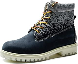JIANFEI LIANG Ankle Boots for Men Casual New High-top Lacing Leisure Outdoor Work Shoes Work or Casual Wear (Color : Blue, Size : 42 EU)