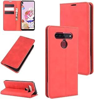 حالات LG For LG K41S / K51S Retro-skin Business Magnetic Suction Leather Case with Holder & Card Slots & Wallet(Black) حال...