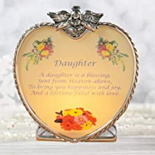 BANBERRY DESIGNS Daughter Heart Glass Candle Holder with Poem for Daughter
