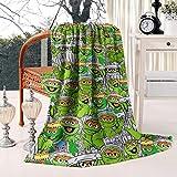 KiySi Ultra Soft Blankets Oscar-The-Grouch-Trash-Green-Grievance-Muppet-Toys- Warm Fluffy Flannel Fleece Throw Blanket 50x60 Inch