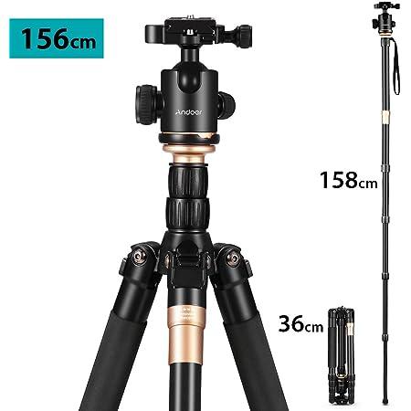 Andoer Q666 Tragbares Kamerastativ 156cm Kamera