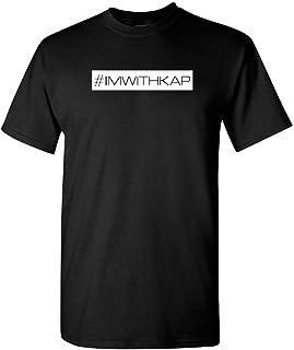 IM WITH KAP T Shirt Social Justice Colin Kaepernick Tshirt #imwithkap (L, Black)