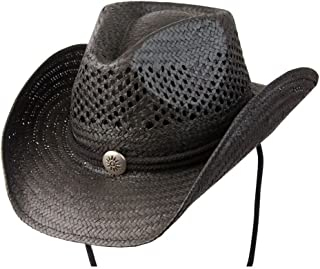 Conner Hats Men's Air Conditioned Straw Shapeable Brim Hat, Black, L/XL