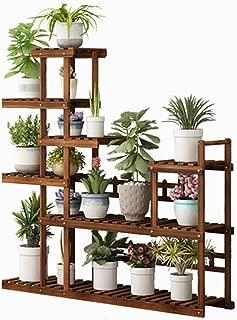 SHYPwM 大容量木製フラワースタンドフロアスタンディング7ティアストレージシェルフバルコニーリビングルーム植物ポットディスプレイシェルフ