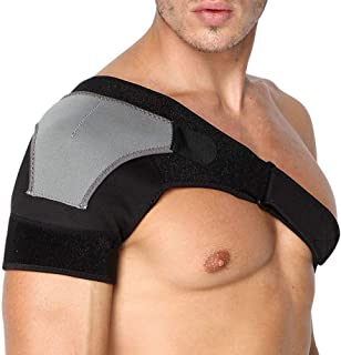 Shoulder Stability Brace Breathable Neoprene Shoulder Support with Pressure Pad For Fitness Sports Adjustable Size Right S...