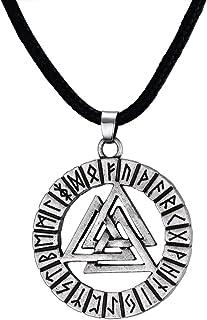 comprar comparacion VNOX Collar Pendiente nórdico del Vikingo del Nudo de Hrungnir de la Runa de Valknot del Acero Inoxidable de los Hombres, ...